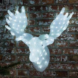 Auffälliger Elch-Kopf mit LED-Beleuchtung