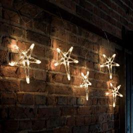 Schmuckvolle LED-Lichterkette 5-Zacker-Sterne