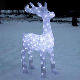 Höhe 91 cm - leuchtende Rentier-Dekofigur Crystalo