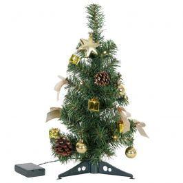 Geschmückter LED-Baum Decorage Deko gold