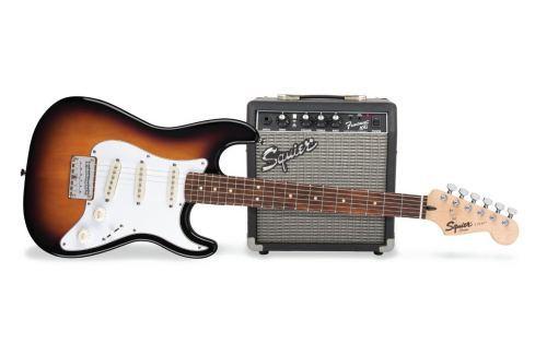 Fender Squier Strat Pack SSS Brown Sunburst