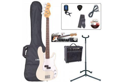 Encore EBP-E4VW Bass Guitar Outfit Vintage White