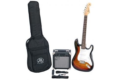 SX SE1 Electric Guitar Kit 3-Tone Sunburst