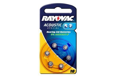 Rayovac 10 Acoustic 1,4V, 105m/Ah Knopfzelle