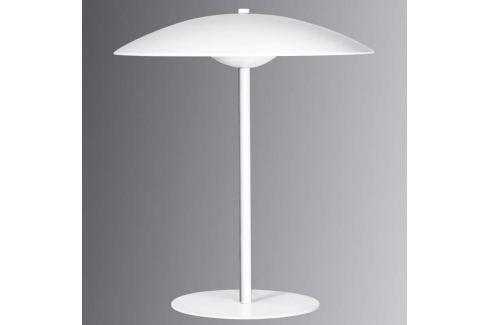 Romy - LED-Tischleuchte mit flachem Schirm, weiß