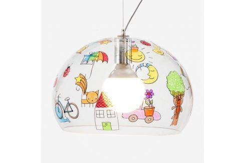 Kartell FL/Y Kids LED-Hängeleuchte Kinderzeichnung