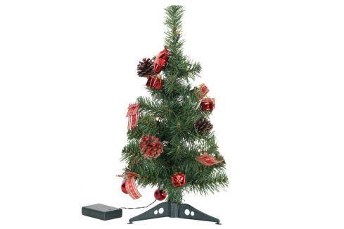 Geschmückter LED-Baum Decorage Deko rot