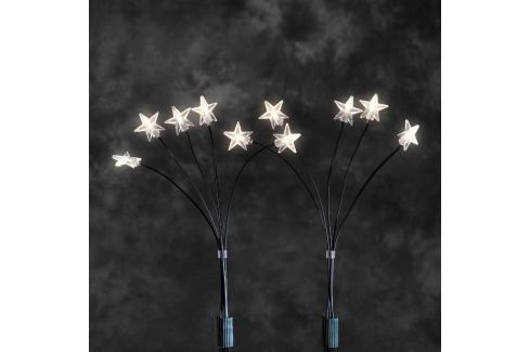 5 LED Sternenstäbe für den Außenbereich, warmweiß