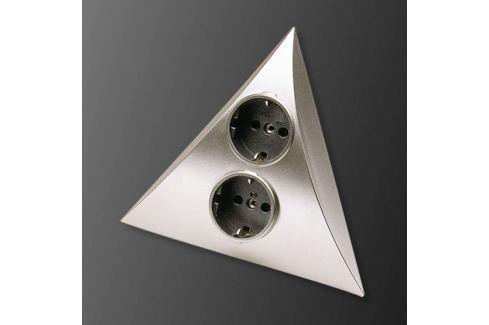 LUXOR 2er-Steckdosen-Kombination, edelstahl