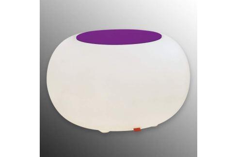 Bubble LED ACCU Outdoor - Tisch Filzauflage viol