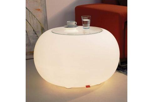 Tisch BUBBLE Indoor LED Licht weiß + Glasplatte