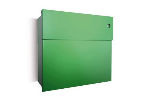 Grüner Briefkasten Letterman IV mit Klingel