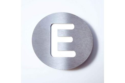 Edelstahl-Hausnummer Round - E
