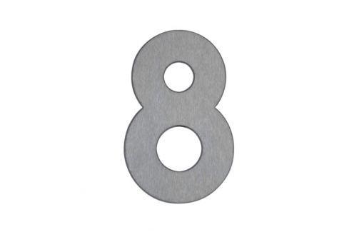 Hausnummer 8 - aus Edelstahl