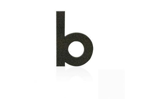 Edelstahl Hausnummern, Buchstabe b, mokkabraun