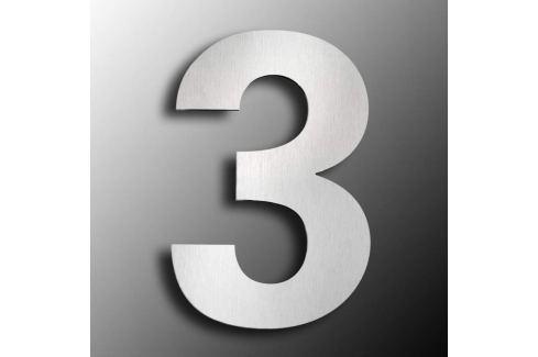 Edelstahl-Hausnummern  groß 3