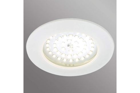 Weiße LED-Einbauleuchte Carl für außen
