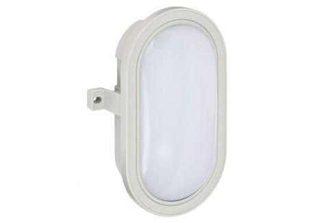 Mats - ovale LED-Außenwandlampe in Grau