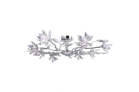 Florale LED-Deckenleuchte Okra mit acht Armen