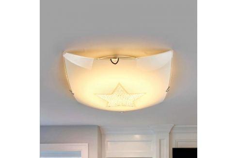 Funkelnde LED-Deckenleuchte Stern mit Kristallen