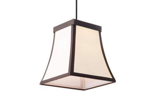 Rustikale LED-Hängeleuchte Fancy m. Stoffschirm