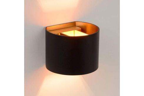 Halbrunde LED-Wandlampe Xio in Schwarz