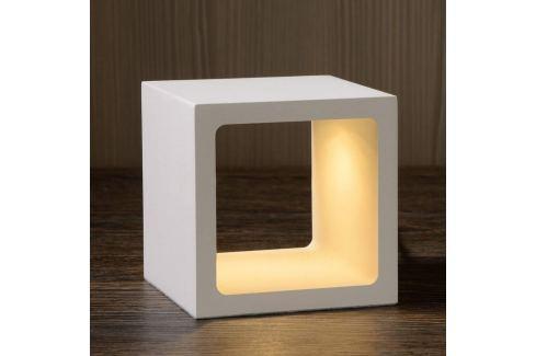 Würfelförmige LED-Tischleuchte Xio