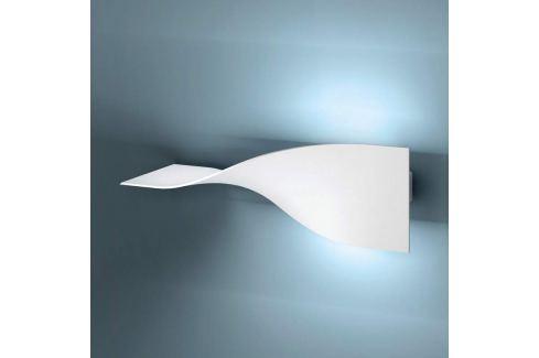 Weiße LED-Wandleuchte Puck aus Metall