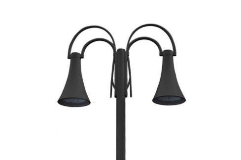 Zweiflammige LED-Mastleuchte Liberty, schwarz