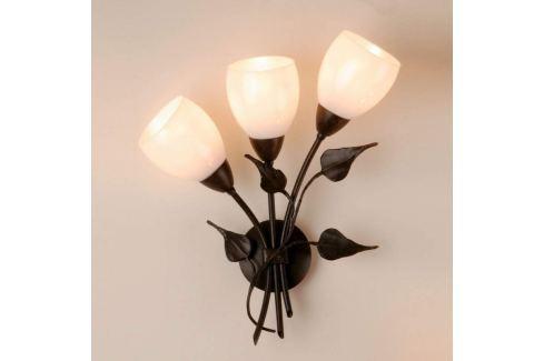 Menzel Chalet - florale Wandlampe mit Glastulpen