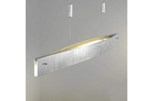 Silberfarbene LED-Hängeleuchte Malu, höhenverst.