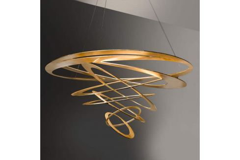 Loop Design-Pendelleuchte in Gold