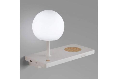 LED-Wandlampe Niko m. induktiver Ladefläche u. USB