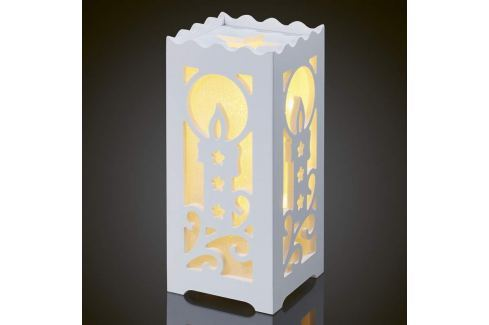Weiße LED-Dekorationsleuchte Kerzenmotiv